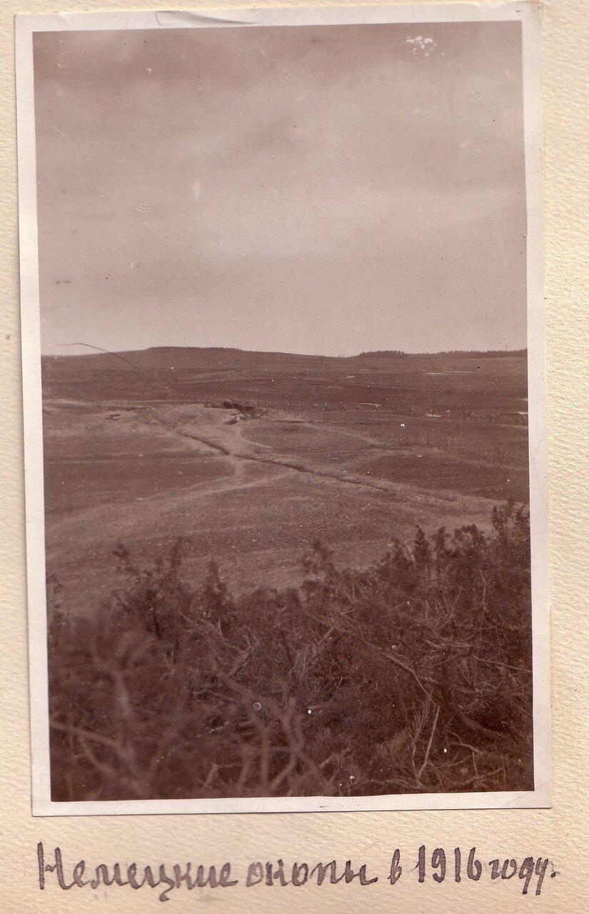 Немецкие окопы в 1916 г.