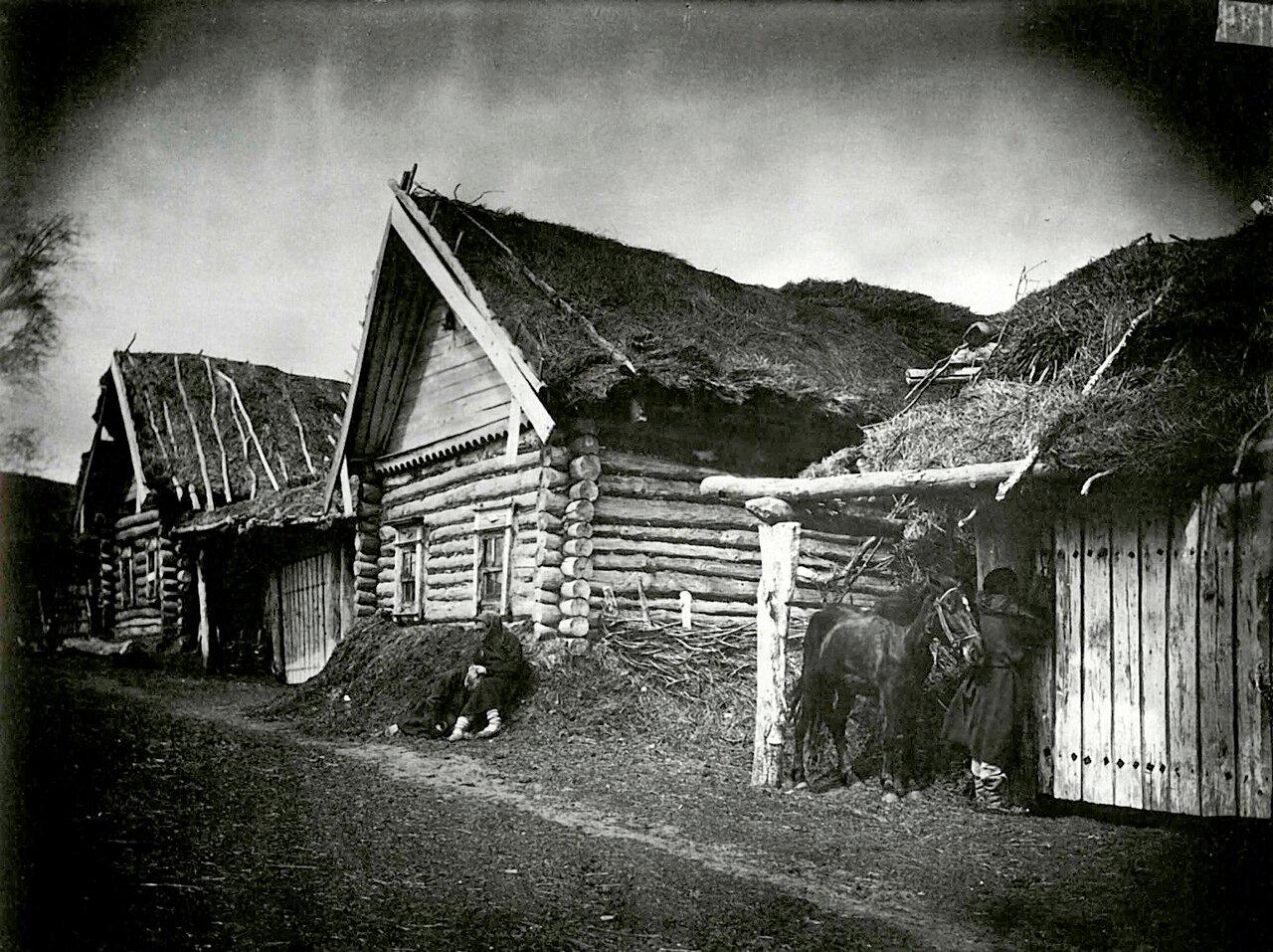 Изба крестьянина Савойкина, умершего от голода, в городе Лукоянове