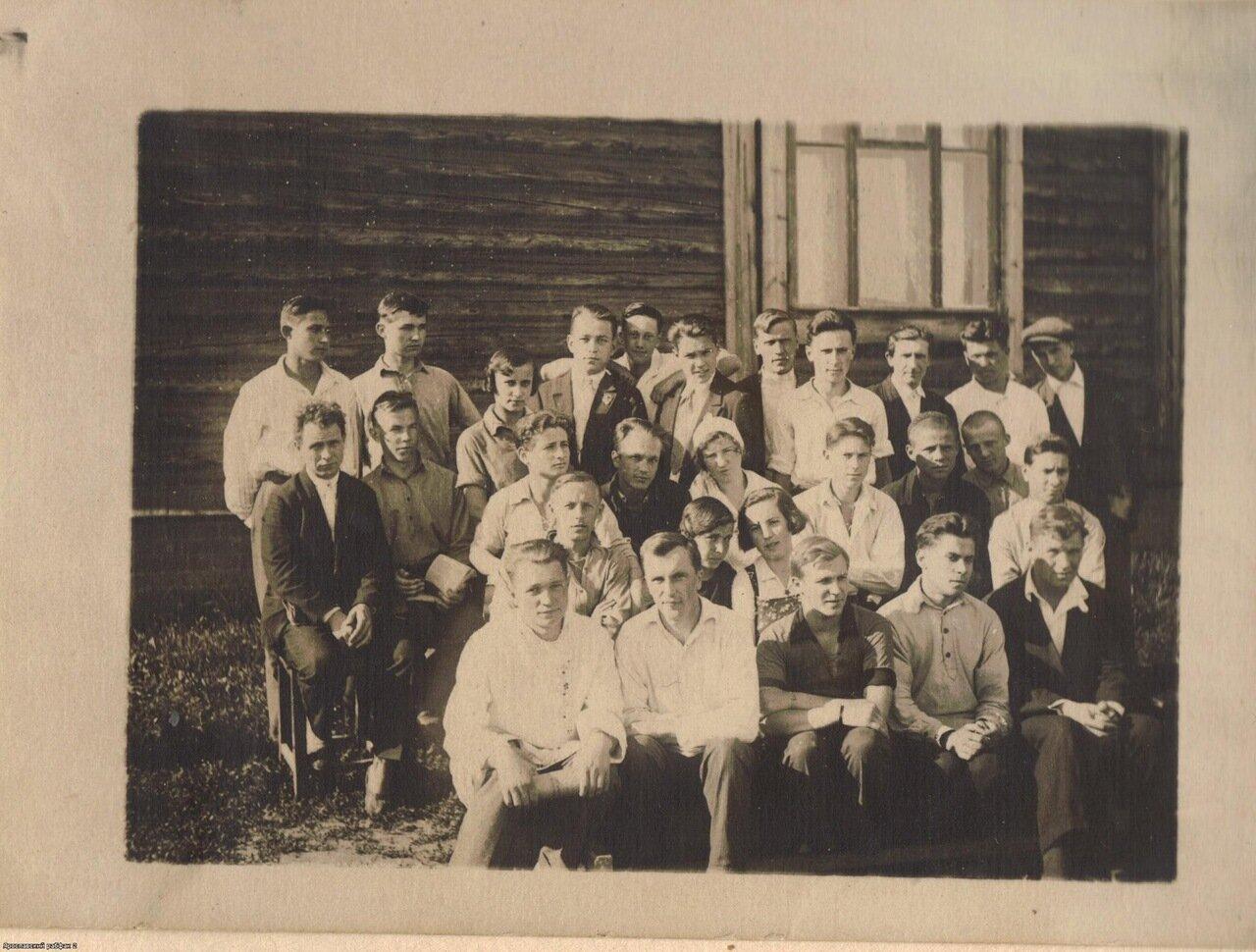 1930-е. Учащиеся ярославского рабфака