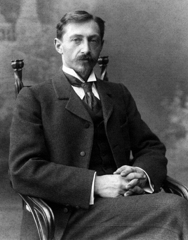 Портрет писателя И.Бунина. Нижний Новгород. 1901.