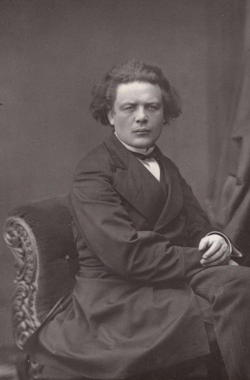 Антон Рубенштейн.1829-1894. Русский пианист, композитор, дирижер и основатель Санкт-Петербургской консерватории.