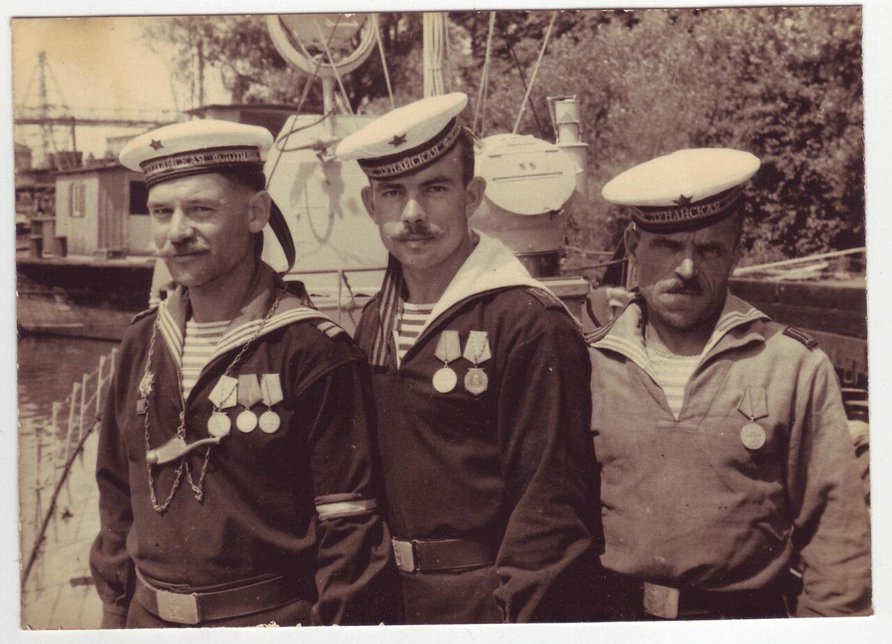 Три моряка из Дунайской военной флотилии