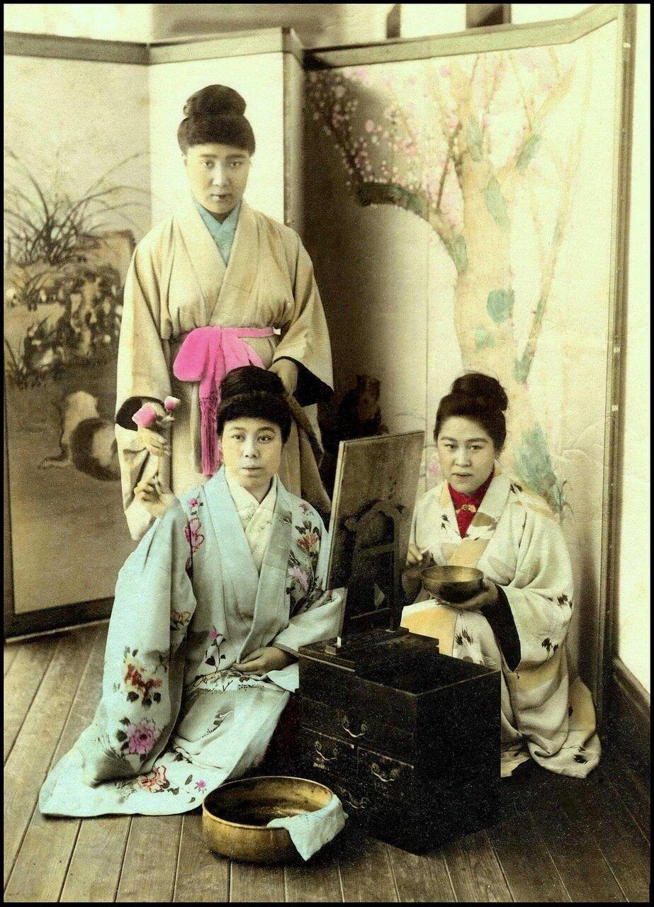 1895. Проститутки борделя № 9, Канагава