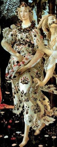 Флора, фрагмент картины художника Сандро Боттичелли «Весна» ( Primavera) 1482