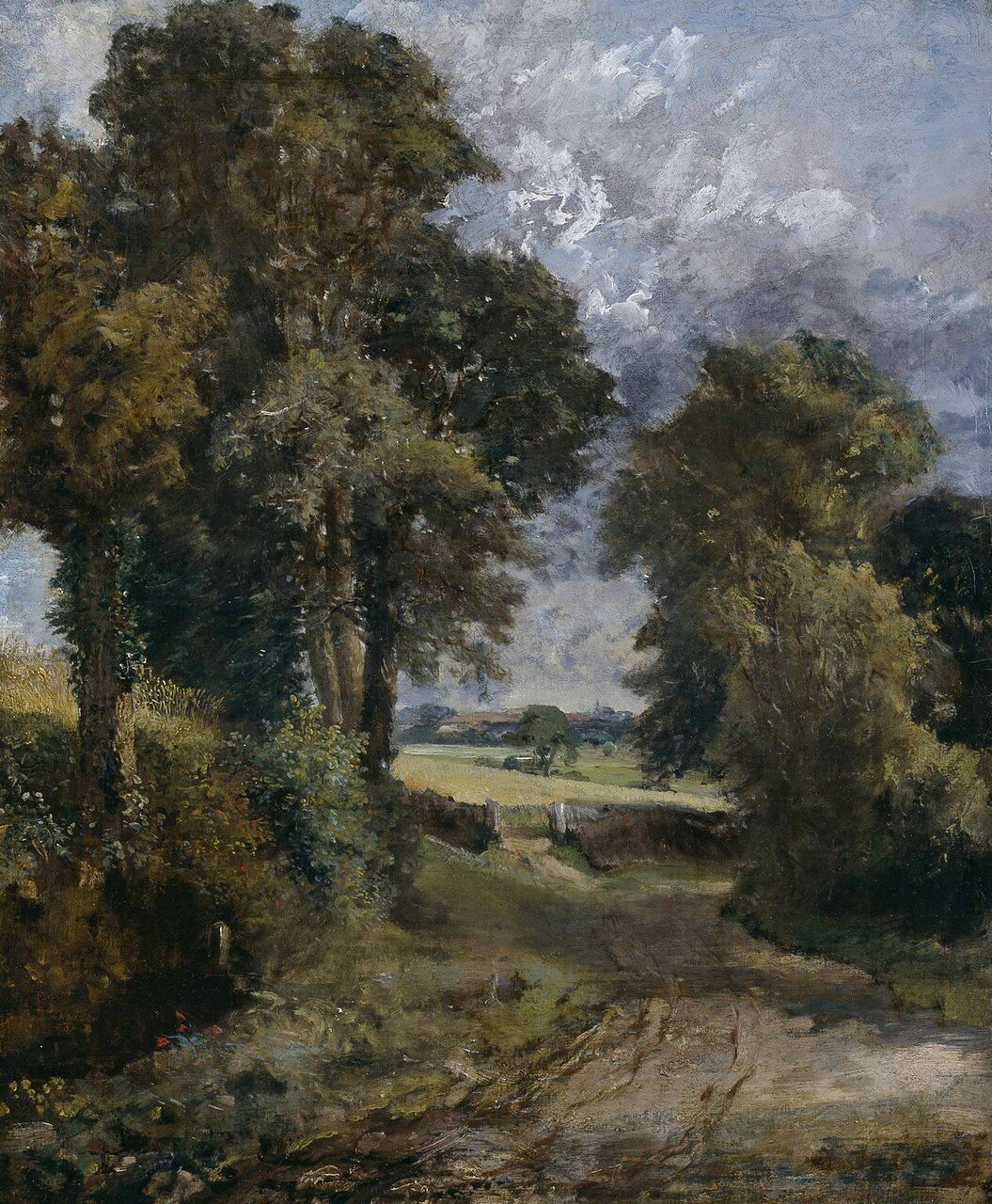 A Cornfield ?1817 by John Constable 1776-1837