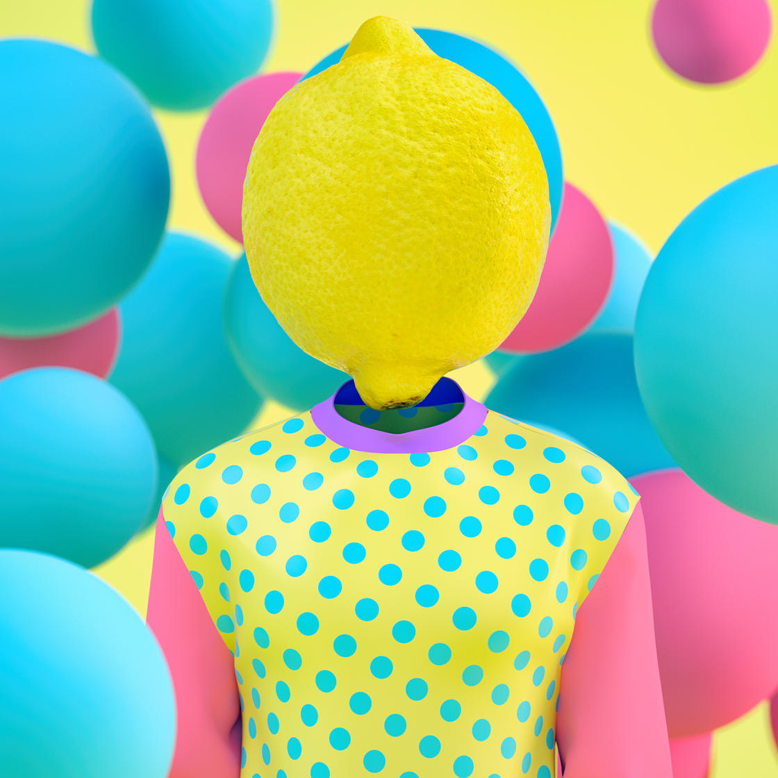 Fake Face – The surreal and colorful creations of Kota Yamaji