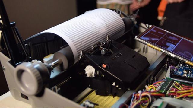 A Writing Machine That Prints Selfies