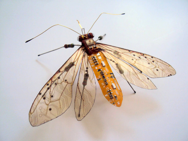 Nintendo Insects Made of Circuit Boards