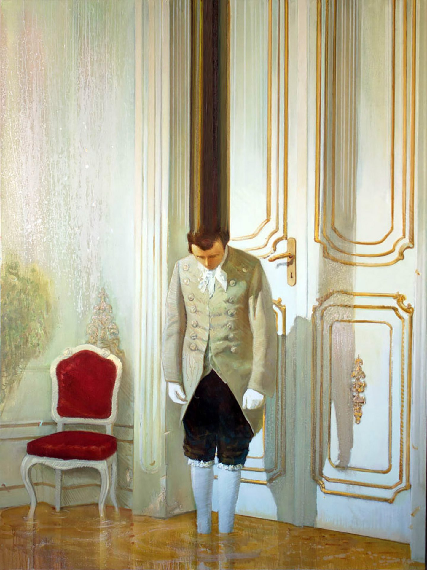 Classical Paintings with Surprising Modern Glitches