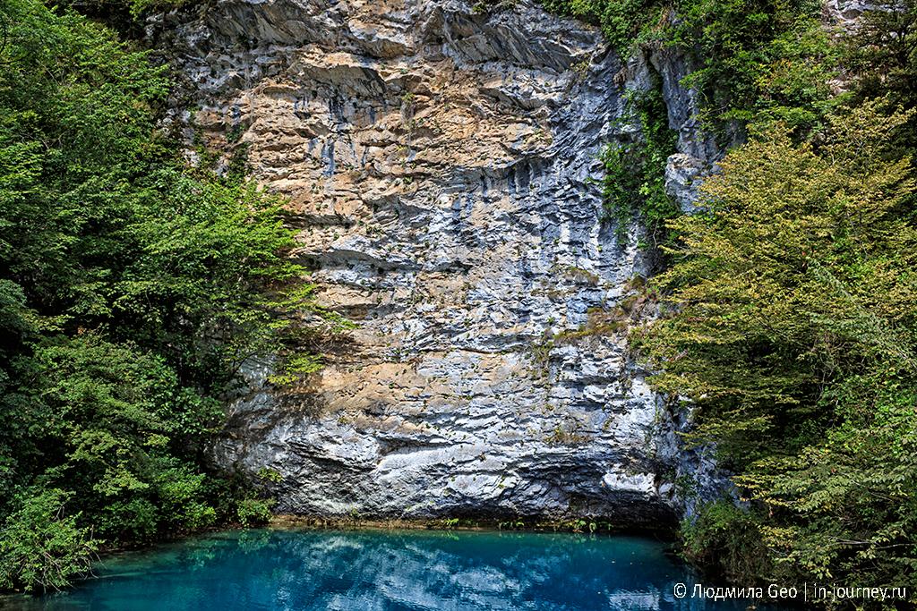 скала над Голубым озером