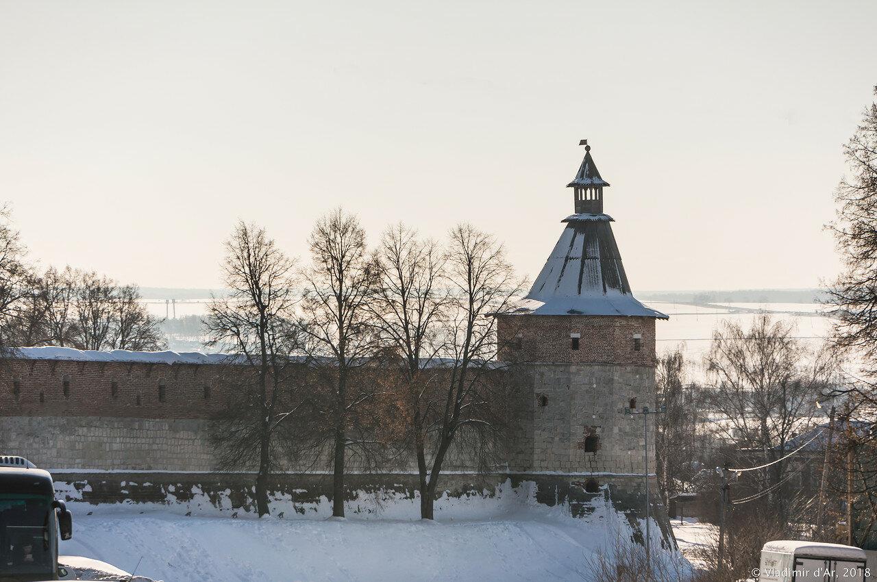 зарайский кремль фото зимой