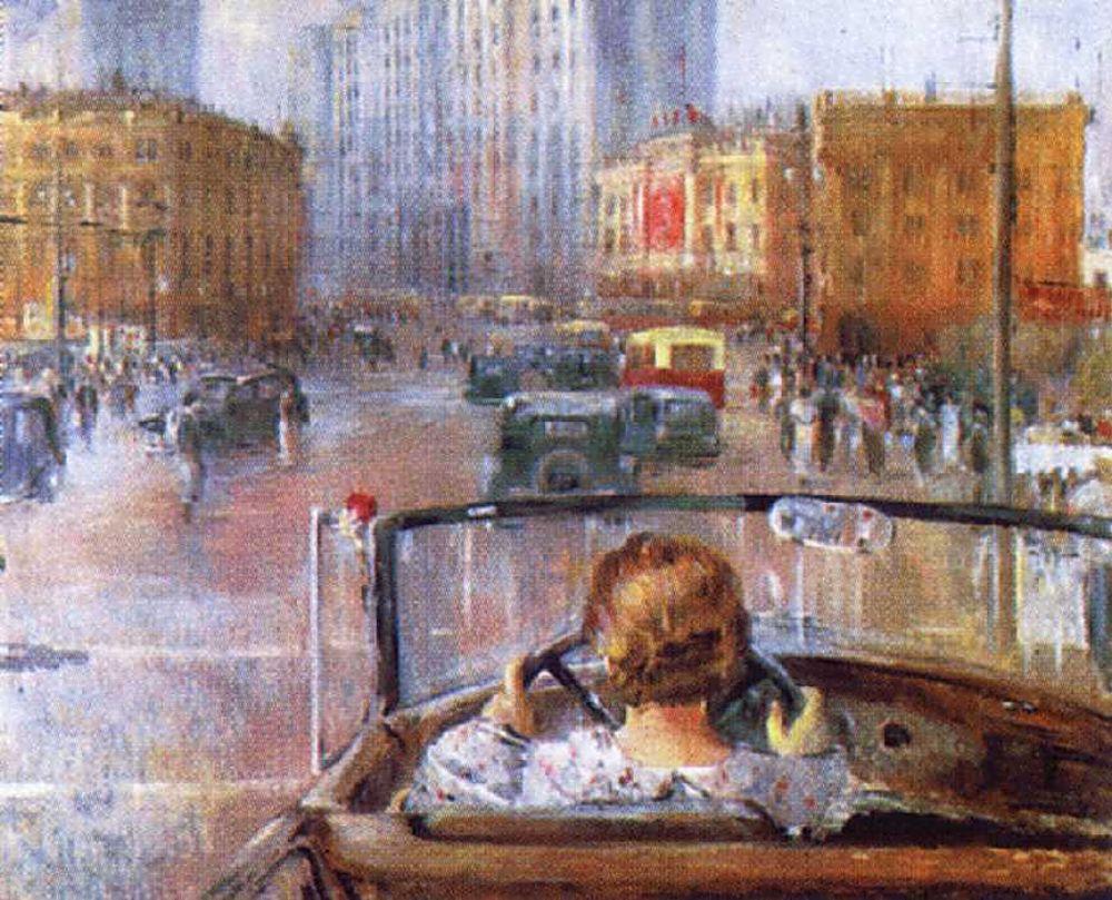ПИМЕНОВ Юрий Иванович. Новая Москва. 1937. Масло