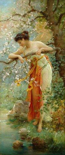 Hans Zatzka (Austrian, 1859-1945)  The Charm of Spring