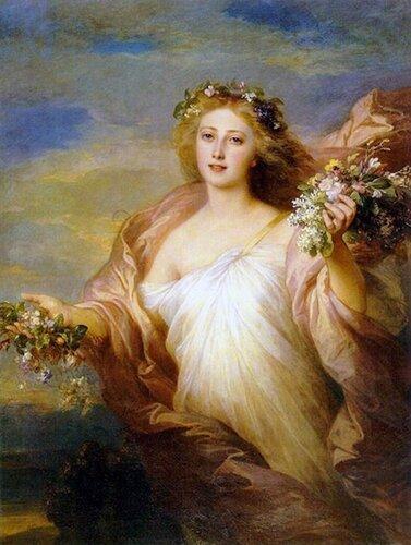 Spring by Franz Xavier Winterhalter (1805-1873, Germany)