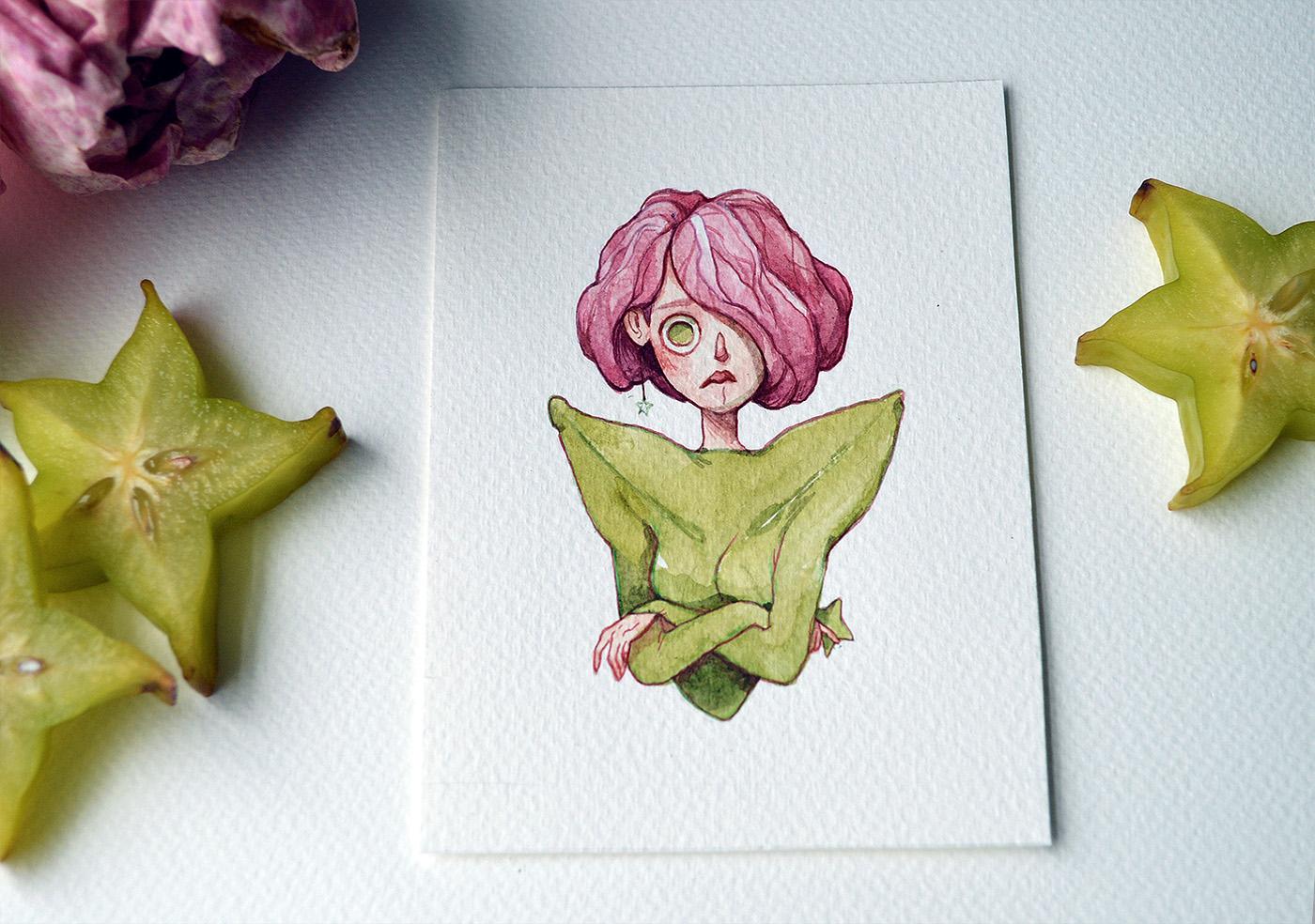 Fruit as Characters / рисунки Marija Tiurina