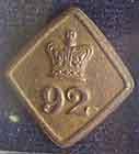 Пуговица с мундира рядового полка Гордона