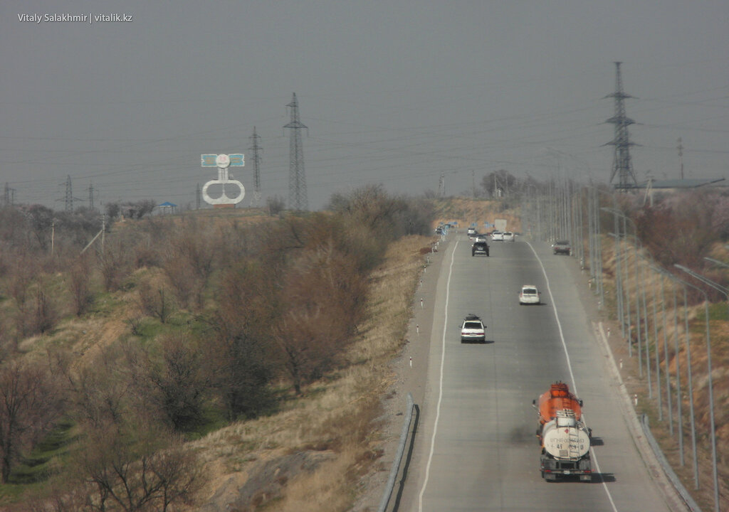 Въезд в Шымкент