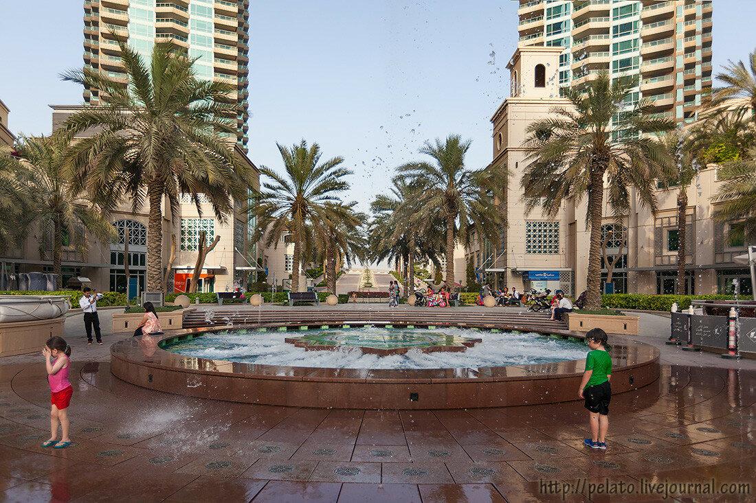 фонтан Marina Марина Dubai Дубаи ОАЭ UAE