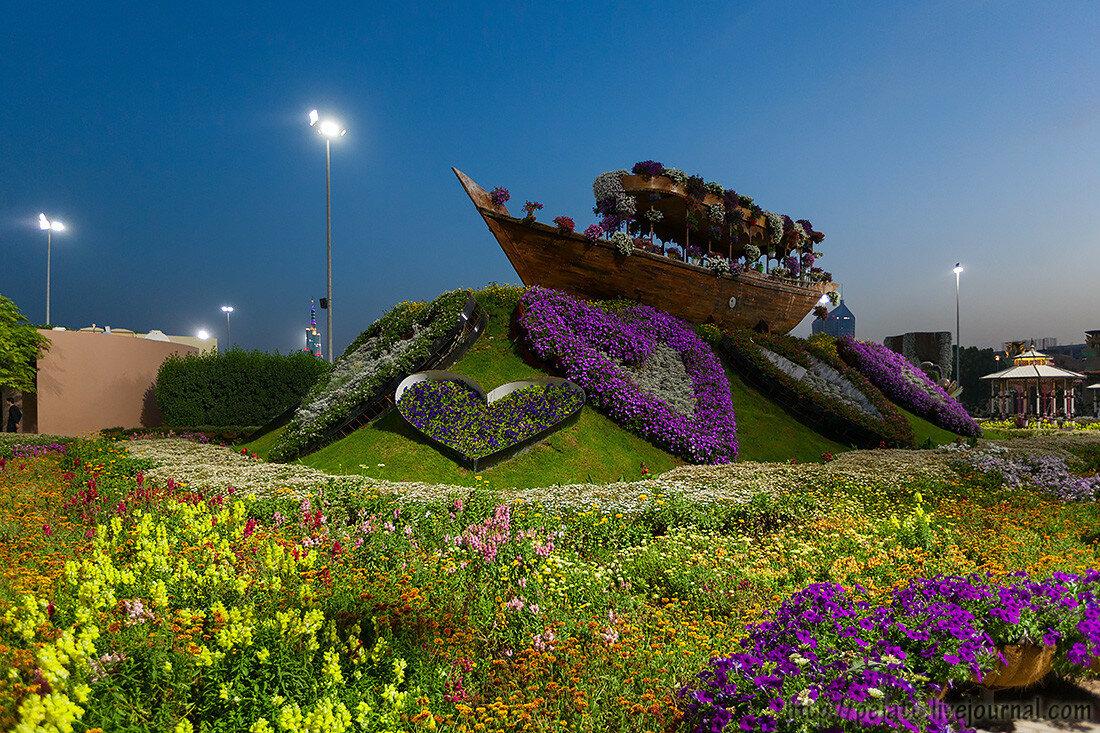 Dubai Miracle Garden или Парк цветов Дубаи ОАЭ UAE