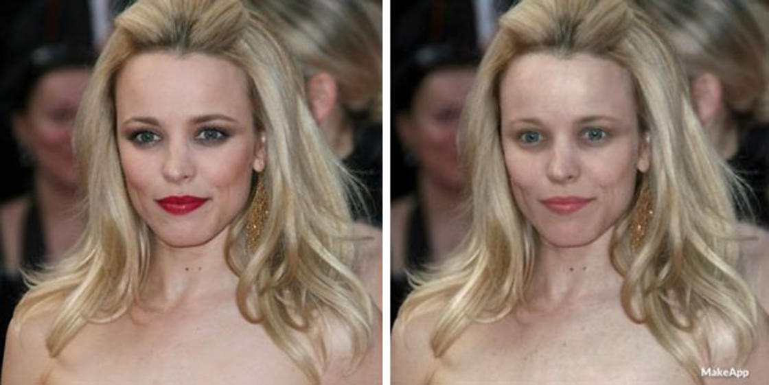 This app can remove makeup from celebrities