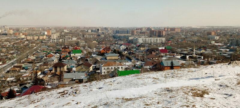 Панорама Кокшетау, 11 марта 2018