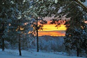 Морозный северный вечер