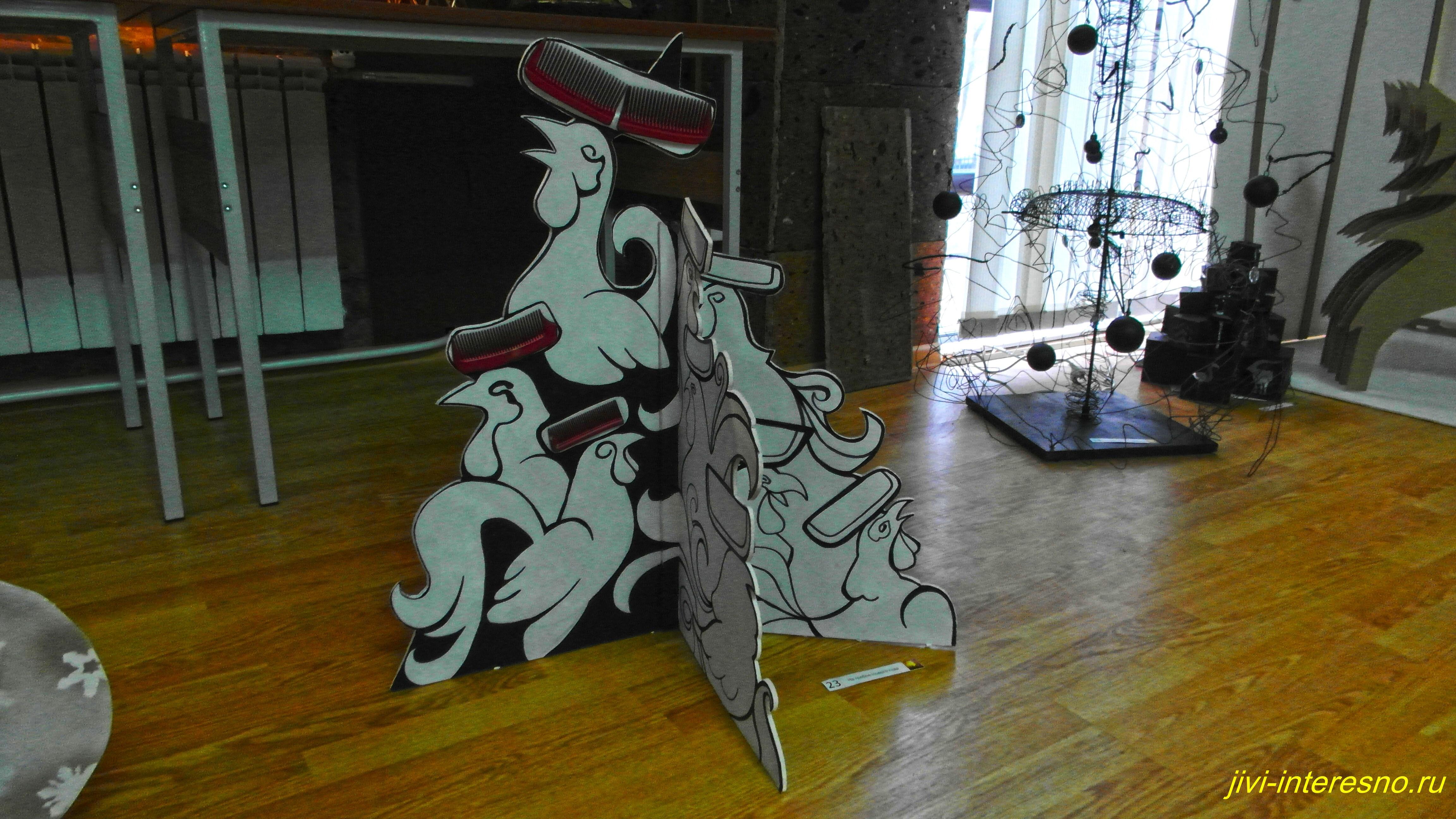 """Креативные елки от ростовских дизайнеров на выставке """"Арт-Елка 2017"""""""