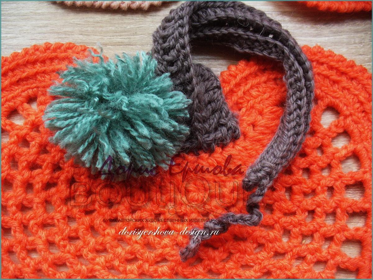 ажурные тыквы подложки крючком, авторский дизайн Дорис Ершовой