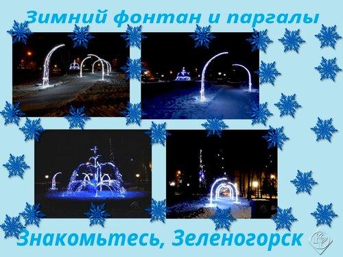 Зимний фонтан и паргалы.