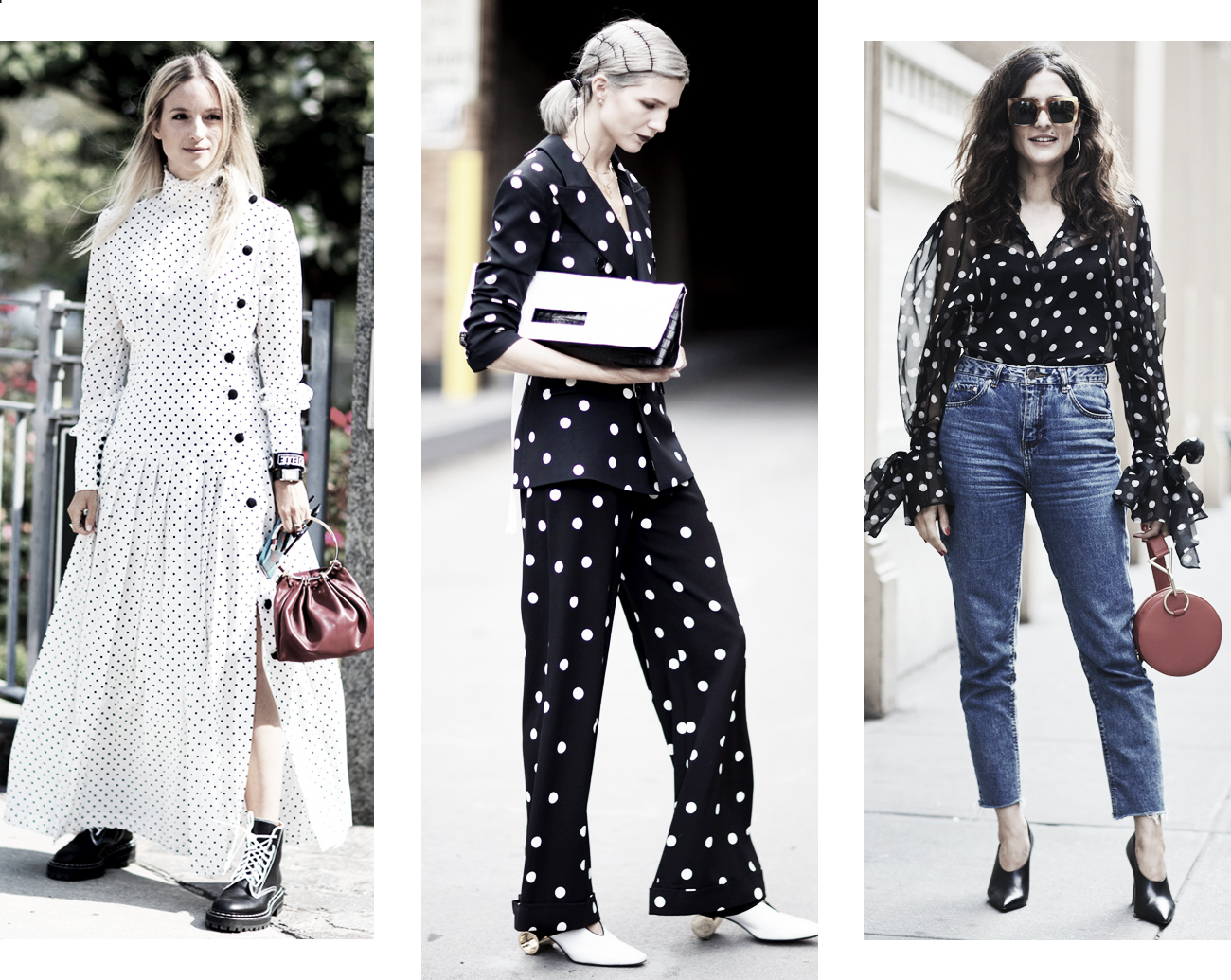 DISTRICT F - NEW YORK STREET STYLE SS18 polka dots trend 2