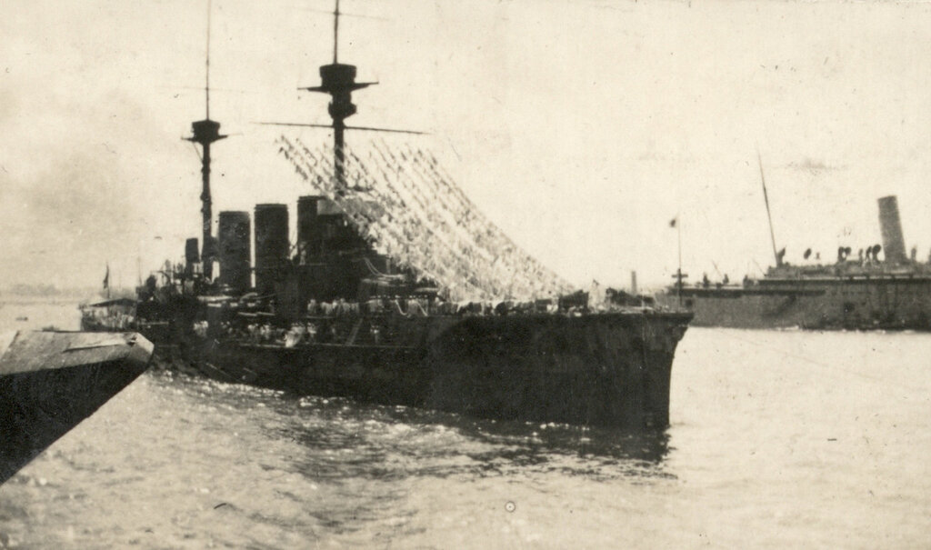 A view of the HIMJS Ibuki, one of the Australian and New Zealand Expeditionary Forces