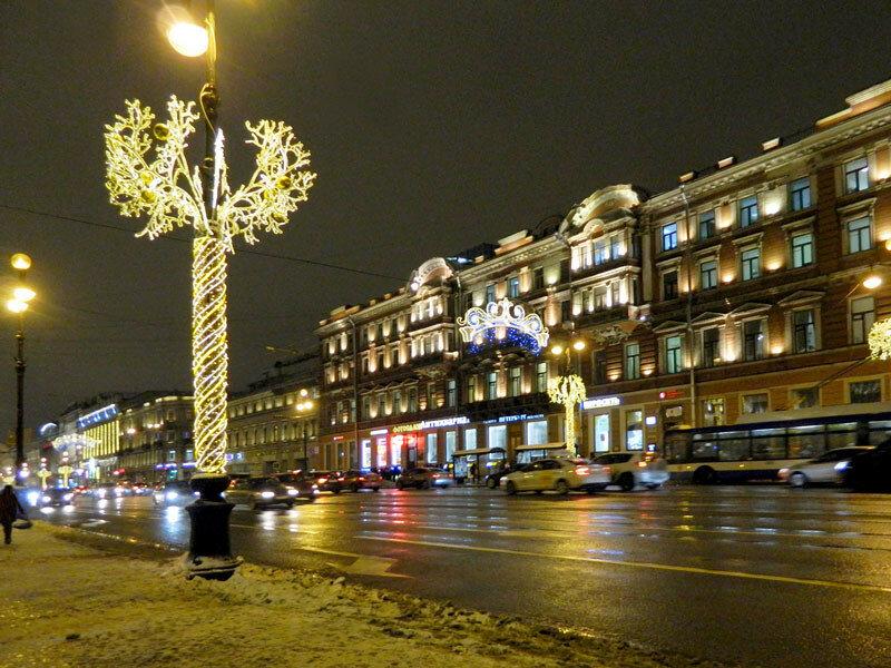 Зимний Невский проспект