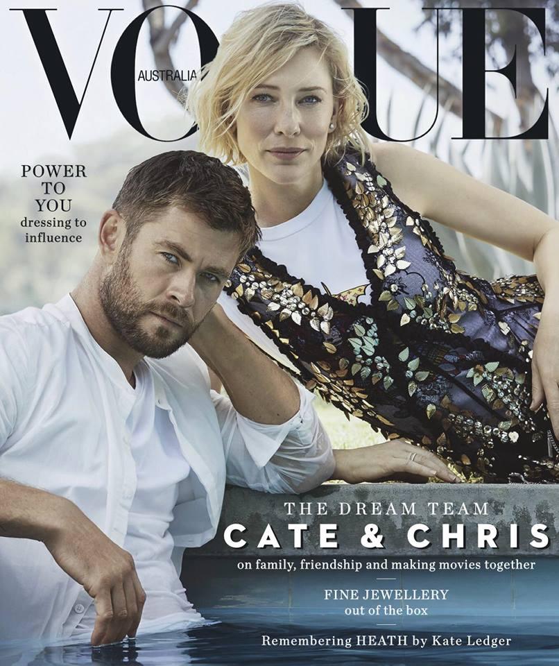 Крис Хемсворт и Кейт Бланшетт для Vogue