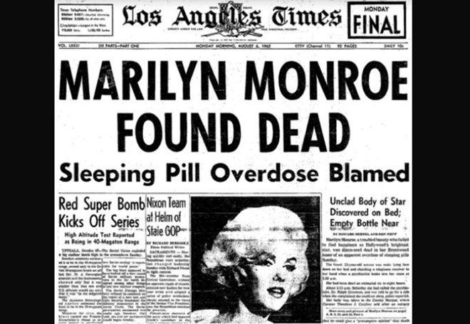 Вывод о том, что Монро сама приняла смертельную дозу снотворного, был сделан после проведения анализ