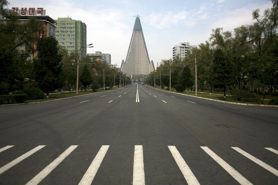 Ни машин, ни людей, Пхеньян, 27 Февраль 2008: