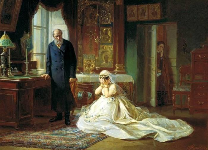 Второй вариант, из Третьяковской галереи, более лаконичен и трагичен: тут дело только между отцом и