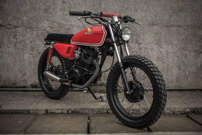 Revolt Cycles: брэт-трекер Honda TMX125 Alpha