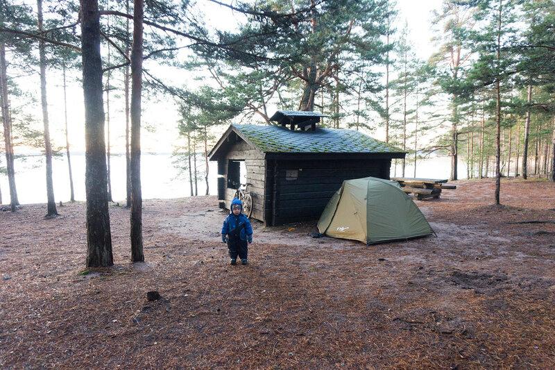 ночевка в палатке на пляже Paihaniemi на берегу Саймы на острове Kattellusaari