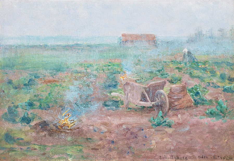 French farmyard scene, Etaples , circa 1890