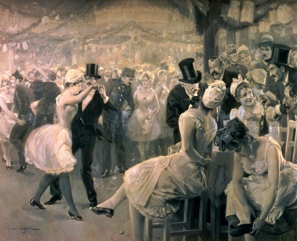 The hustle and bustle at a ball, 1912