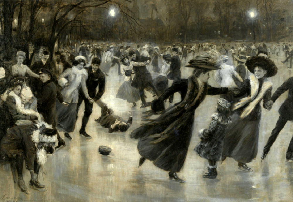 Party on the ice, 1909