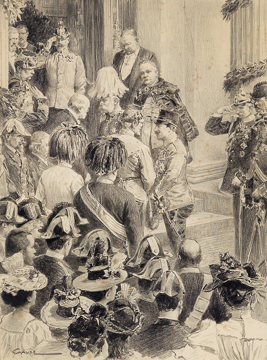 Franz Joseph und Wilhelm II in Abbazia