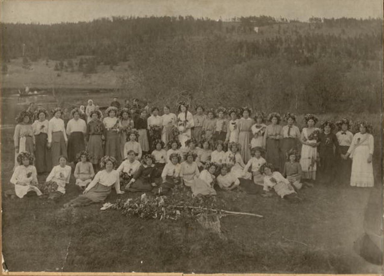 Праздник Семик, село Мишилевка, 1915