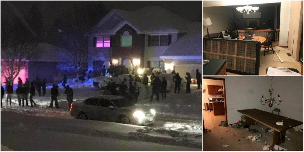 Американец снял дом и устроил новогоднюю вечеринку, позвав 250 человек через Твиттер