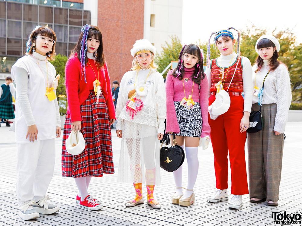 Модные персонажи на улицах Токио (09.01.18)