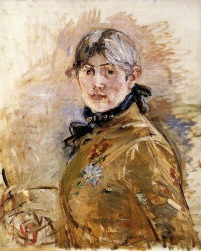 Берта Моризо.  Автопортрет 1885, 50×61 см