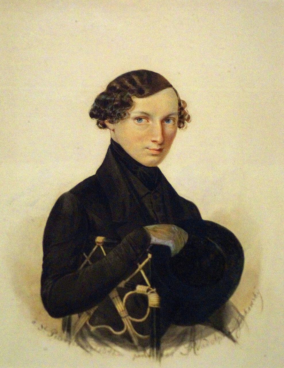 Рудольф Казимирович Жуковский. Портрет князя Н.М. Дондукова-Корсакова. 1841