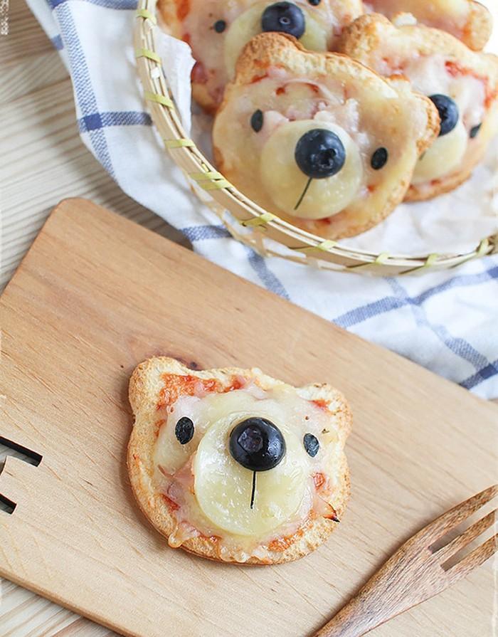 21. Бутерброды в виде мишек