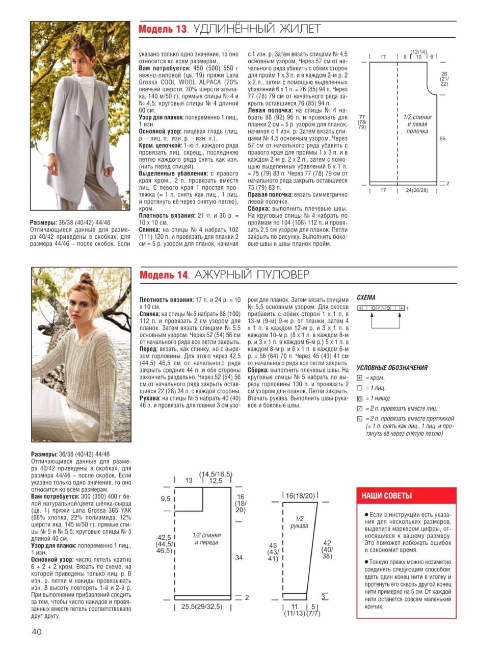 Схемы и модели для вязания журналы 124