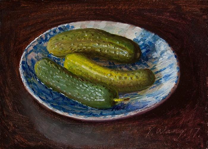 Американская  художница  Youqing (Eugene) Wang.   Соленые  огурчики.
